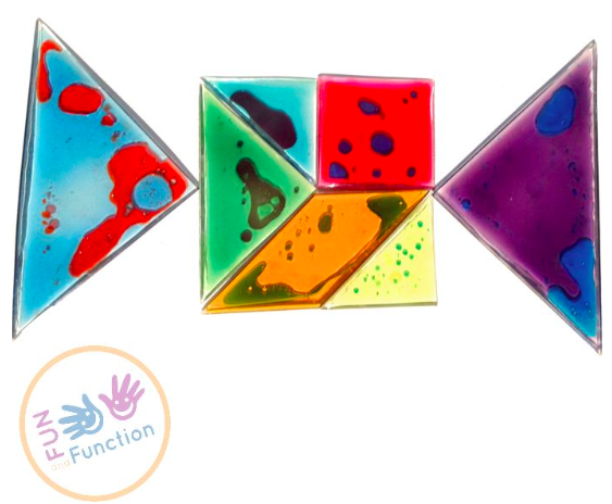 fun and function busy fingers tangram gel puzzle