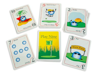 play nine golf braille card game