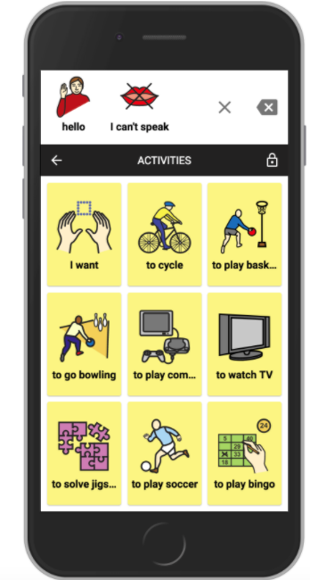 cboard AAC app mobile example