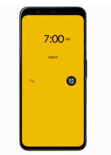 Sunrise alarm in Bedtime mode