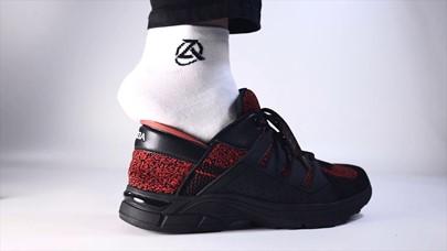 Foot in Zeba shoe